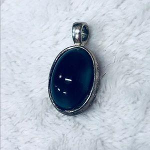 Vintage blue stone pendant